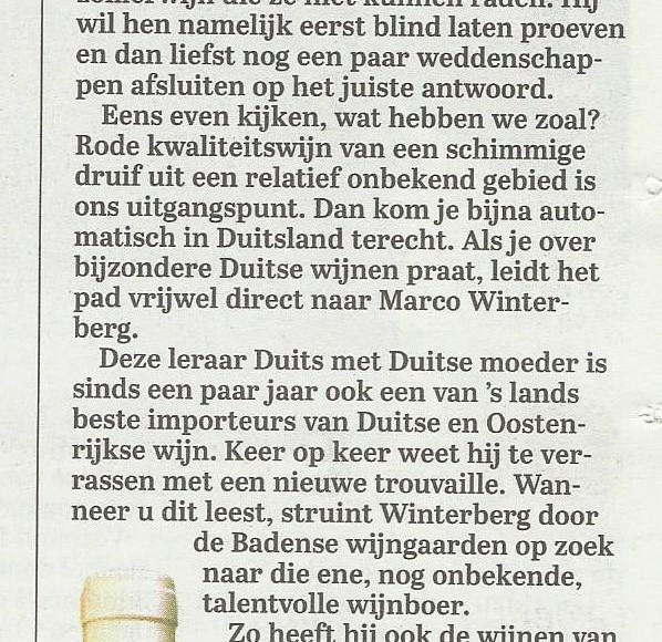 St. Laurent Klein in Telegraaf 30-07-2016
