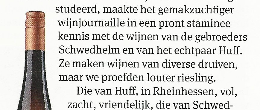 Huff en Schwedhelm in Elsevier
