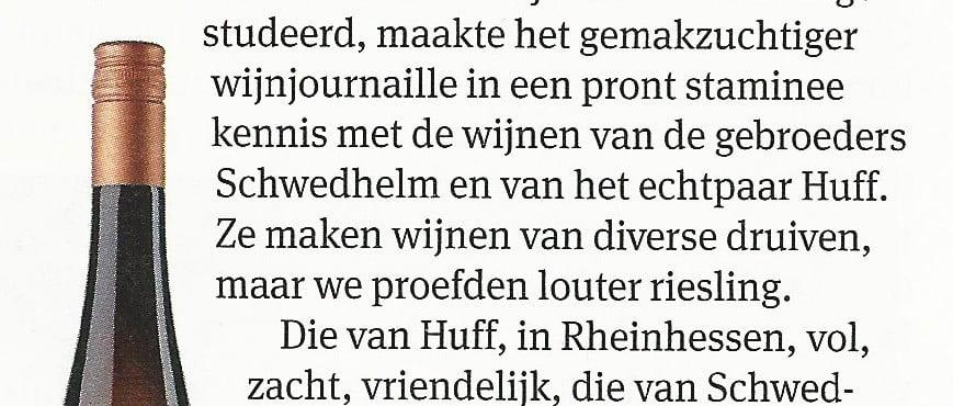 Huff en Schwedhelm in Elsevier