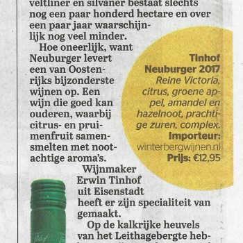 Neuburger in De Telegraaf 06-10-2018