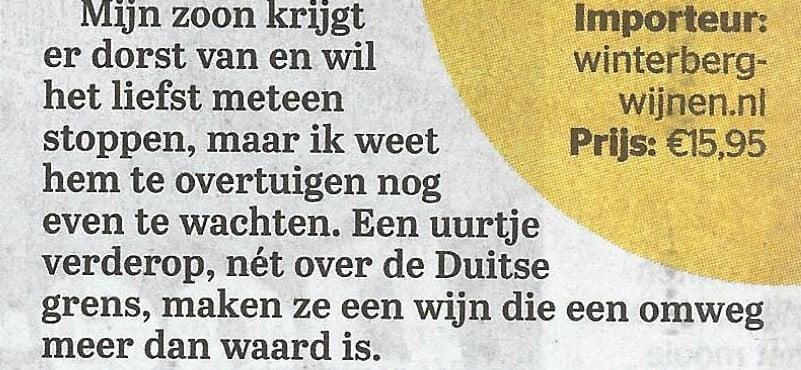 goldmuskateller Telegraaf
