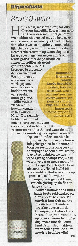 Triumvirat 2010 in Telegraaf